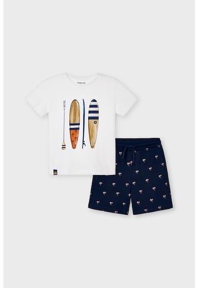 Mayoral Set de tricou si pantaloni sport scurti cu imprimeu grafic Baieti