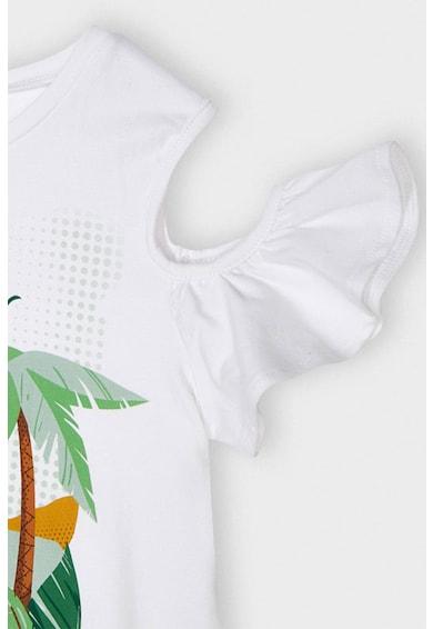 Mayoral Set de pantaloni scurti si tricou cu imprimeu grafic - 2 piese Fete