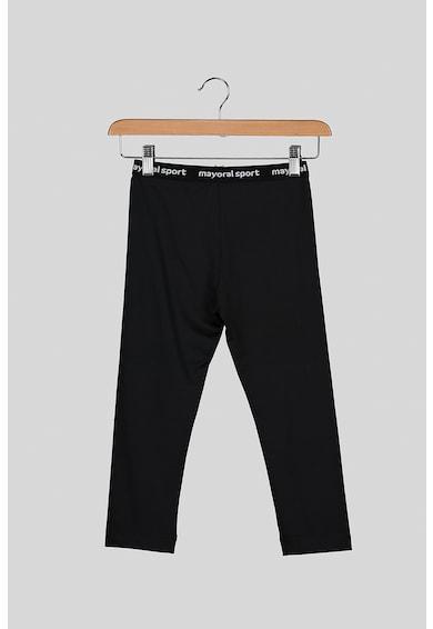 Mayoral Set de tricou lejer cu pantaloni si imprimeu text Fete