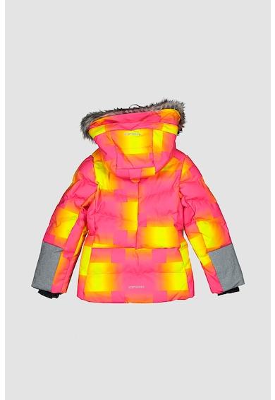 Icepeak Geaca cu model geometric pentru ski Lomita Jr Fete