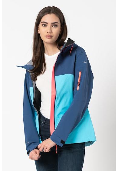 Icepeak Jacheta cu gluga si model colorblock pentru drumetii Fairdale Femei