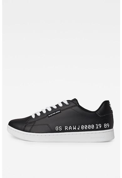 G-Star RAW Pantofi sport de piele ecologica cu imprimeu logo Barbati