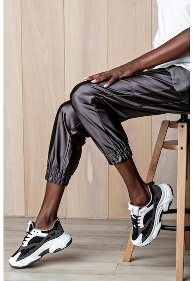 MUSK Pantofi sport de piele intoarsa ecologica cu insertii de plasa Femei