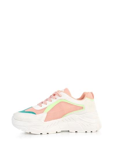 MUSK Pantofi sport de piele ecologica cu insertii de plasa Femei