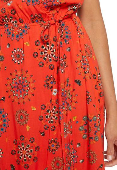 DESIGUAL Rochie de plaja cu model petrecut si mandale cu design floral Femei