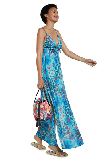 DESIGUAL Rochie de plaja cu model abstract Femei