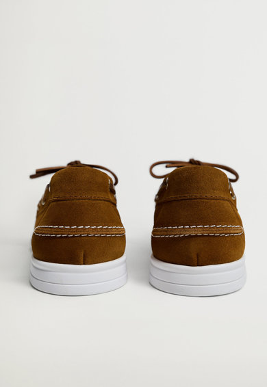 Mango Pantofi boat de piele intoarsa Barbati