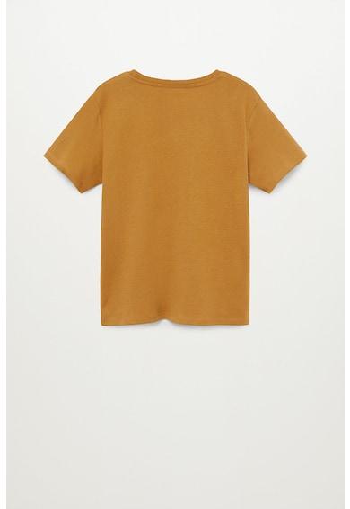Mango Tricou de bumbac organic cu imprimeu Nyc Baieti