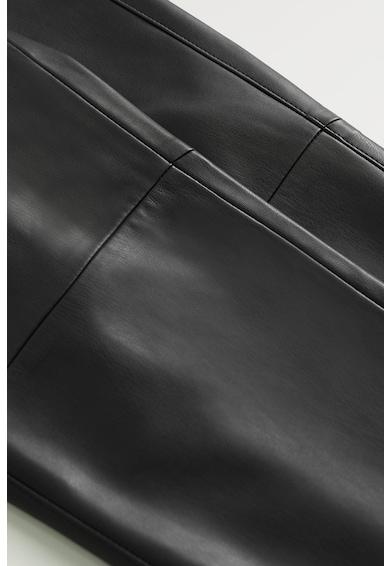 Mango Pantaloni skinny de piele ecologica London Femei