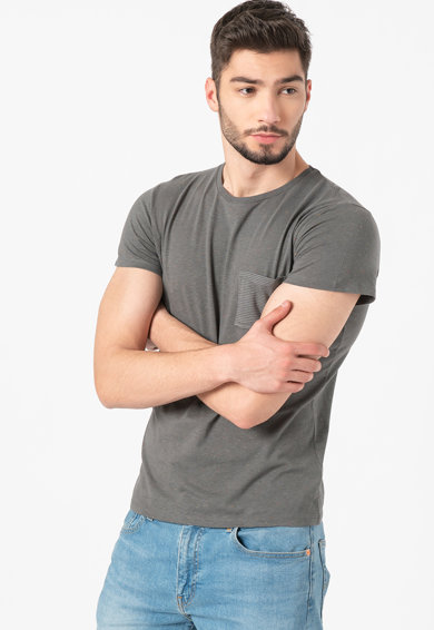 Haily's Tricou cu nopeuri si buzunar pe piept Barbati