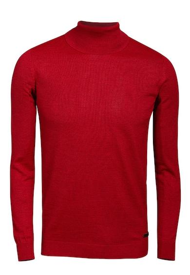 Bigotti Pulover tricotat fin din amestec de lana cu guler inalt Barbati