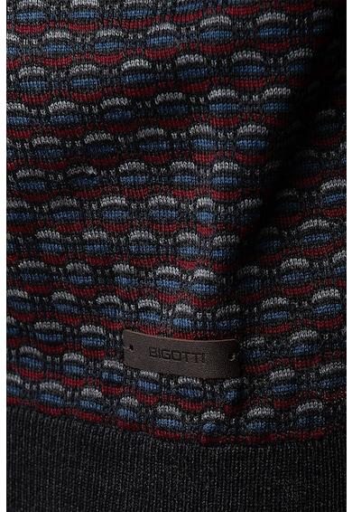 Bigotti Pulover tricotat fin din amestec de bumbac cu model geometric Barbati
