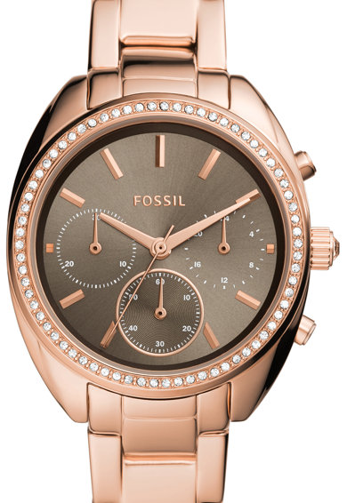 Fossil Ceas cronograf decorat cu cristale Femei
