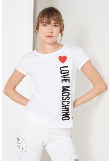 Love Moschino Tricou cu logo cauciucat Femei
