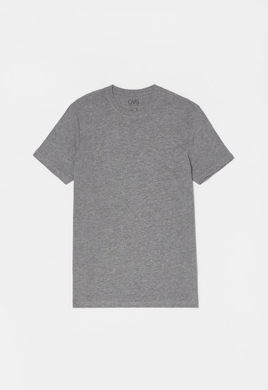 OVS Set de tricouri cu decolteu la baza gatului - 3 piese Barbati