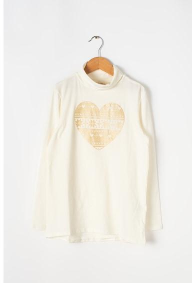 OVS Bluza cu guler inalt si imprimeu grafic Fete