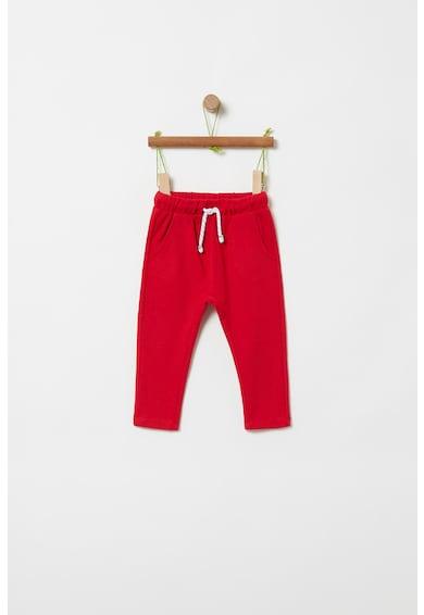 OVS Pantaloni sport cu snur de ajustare si model pe partea din spate Fete
