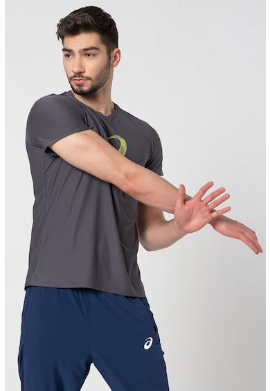 Asics Tricou cu imprimeu logo, pentru alergare Barbati
