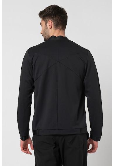 Asics Bluza cu fermoar si guler scurt, pentru fitness Barbati