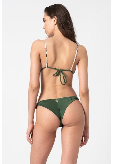 Liu Jo Sutien de baie cu cupe triunghiulare si imprimeu tropical Femei