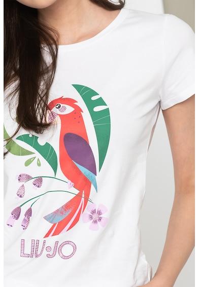Liu Jo Tricou de plaja cu imprimeu grafic Femei