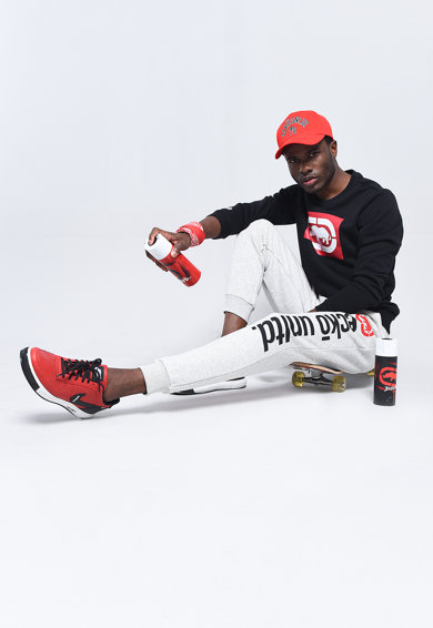 Ecko Pantaloni sport jogger cu imprimeu logo supradimensionat California Barbati