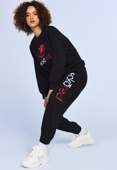 Ecko Pantaloni sport cu logo Julia Femei