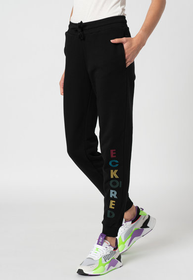 Ecko Pantaloni sport cu text brodat Juic Femei