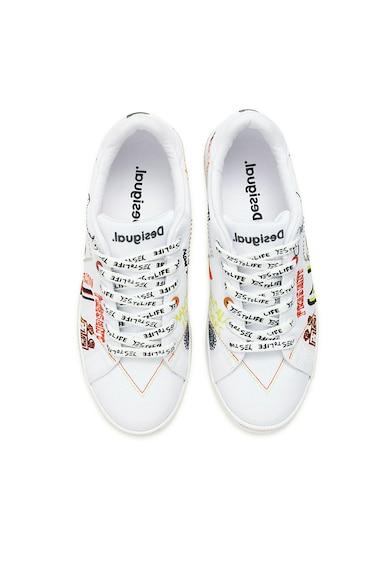 DESIGUAL Pantofi sport cu model si aplicatii cu nituri Femei