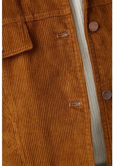 KOTON Jacheta din reiat cu detalii din material teddy Femei