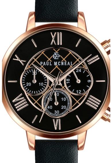 Paul McNeal Ceas cronograf cu o curea din piele Femei
