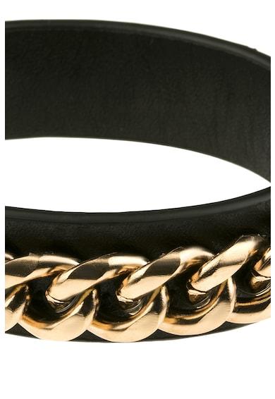 Victoria Walls Bratara din piele cu aplicatie cu lant metalic Femei
