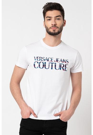 Versace Jeans Couture Tricou de bumbac cu logo Barbati