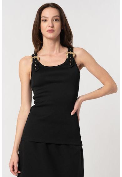 Versace Jeans Couture Top striat cu catarame Femei