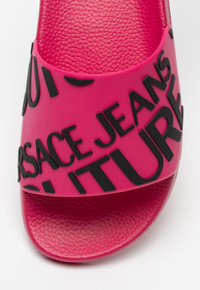Versace Jeans Couture Papuci cu logo in relief Femei