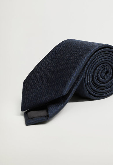 Mango Cravata cu model geometric Basic Barbati