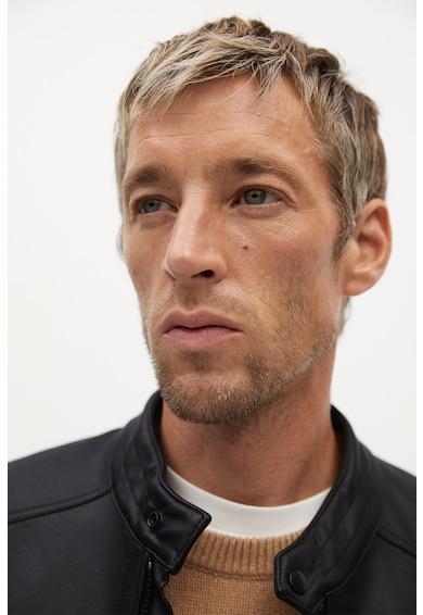 Mango Jacheta biker de piele ecologica Joseno Barbati