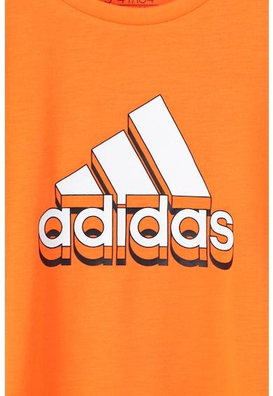 adidas Performance Tricou cu imprimeu logo pentru fitness Baieti