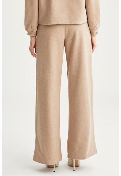 DeFacto Pantaloni cu croiala ampla si aspect striat Femei