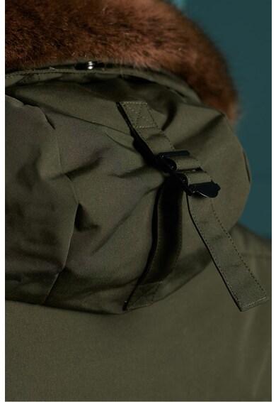 SUPERDRY Geaca matlasata cu garnitura din blana sintetica Everest Barbati