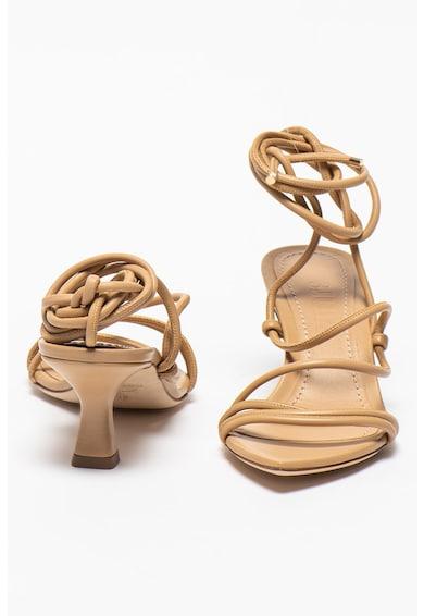 3JUIN Sandale petrecute de piele Dafne Femei