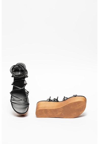 Jeffrey Campbell Sandale wedge cu design petrecut Bondage Femei