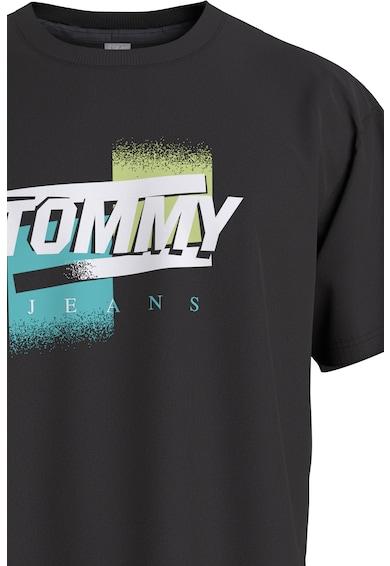 Tommy Jeans Tricou din bumbac organic cu imprimeu logo Barbati