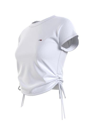 Tommy Jeans Tricou cu decolteu la baza gatului si snururi laterale pentru ajustare Femei