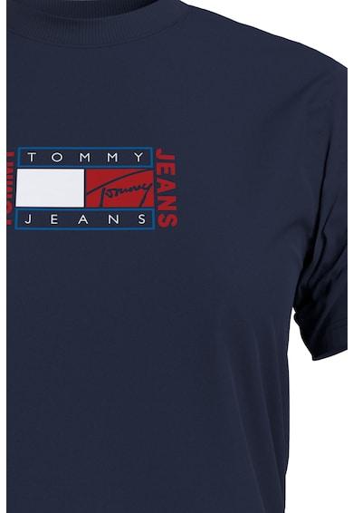Tommy Jeans Tricou din bumbac organic cu decolteu la baza gatului si logo Femei