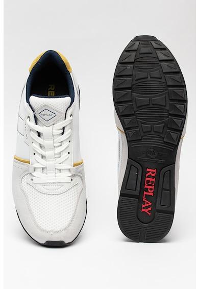 Replay Pantofi sport cu insertii din piele intoarsa Classic Status Barbati