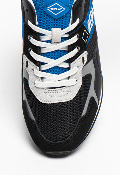Replay Pantofi sport cu detalii de piele intoarsa Sport Beach Barbati