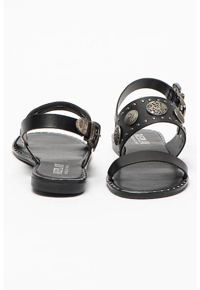 Replay Sandale de piele ecologica cu nituri si aplicatii metalice Lanivet Femei