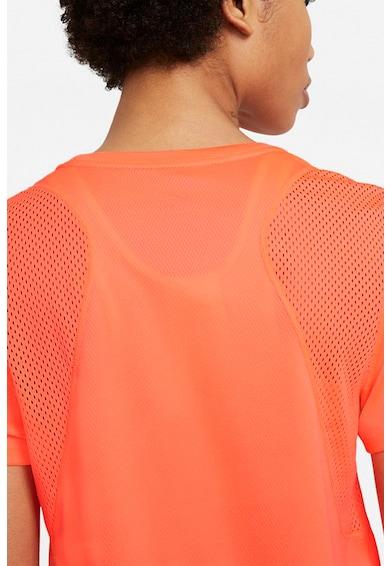 Nike Tricou cu insertii de plasa, pentru alergare Femei