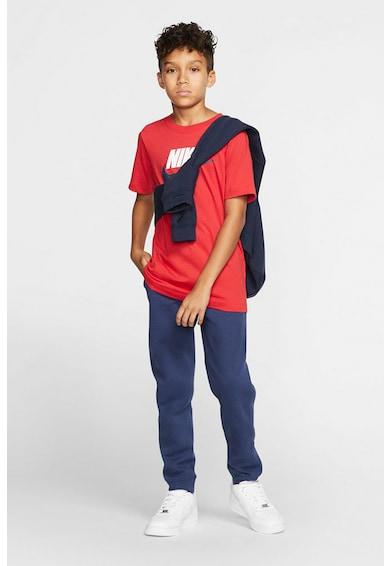 Nike Tricou cu decolteu la baza gatului si imprimeu logo Sportswear Baieti